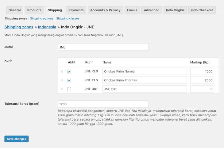 Woocommerce Indo Ongkir Wordpress Plugin Wpbisnis Solution